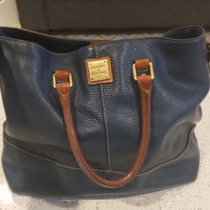 D&B blueish green, pebbled leather shoulder bag